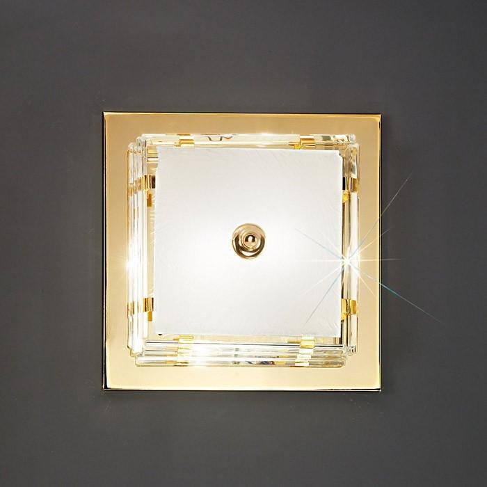 Nábytek Ontario - E27, 60W, 31x31x10 (zlatá)