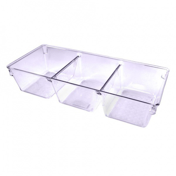 Nábytek Organizér,3 přihrádky,plast (plast,čirá)