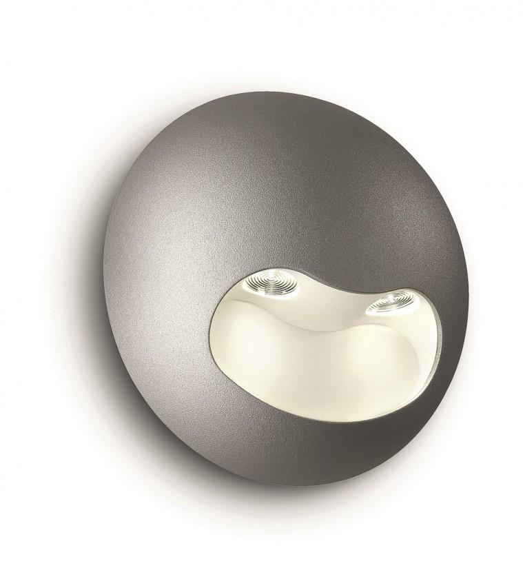 Nábytek Palermo - Nástěnné osvětlení LED, 13,1cm (šedá)