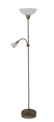 Nábytek Pearl - Lampa, E27 (bronzová/alabastrové sklo)