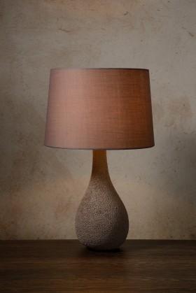 Nábytek Polli - lampička, 40W, E14 (hnědá)