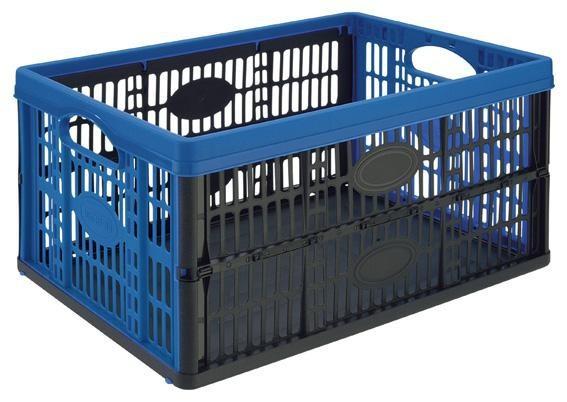 Nábytek Přepravka skládací,plast (modrá)