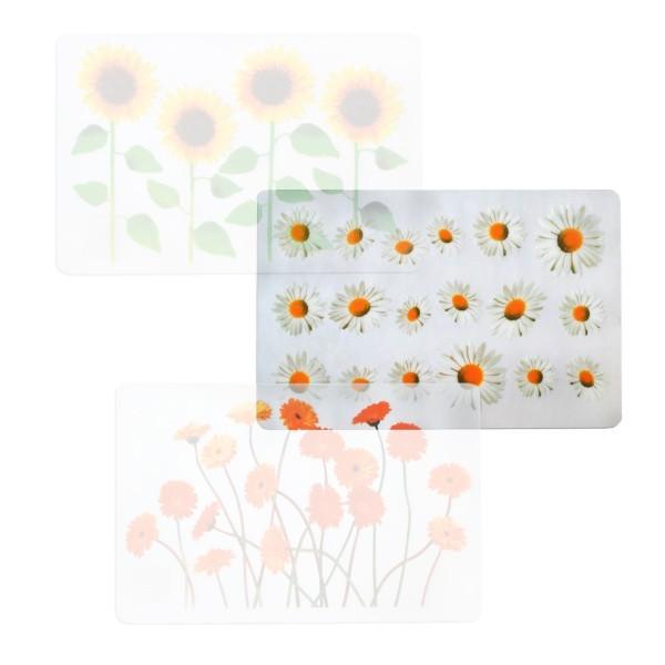 Nábytek Prostírání (květiny slunečnice, transparentní)