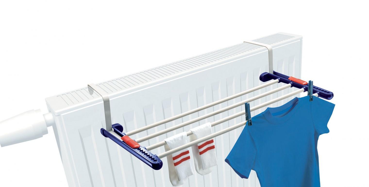 Nábytek Quartett - sušák na prádlo (bílo-fialový)