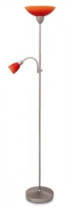 Nábytek Rainbow - Lampa, E27 (hedvábně lesklá chromová/červeno-oranžová)