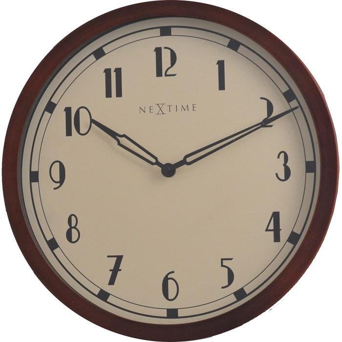 Nábytek Royal - hodiny, nástěnné, kulaté (kov, sklo, černé)