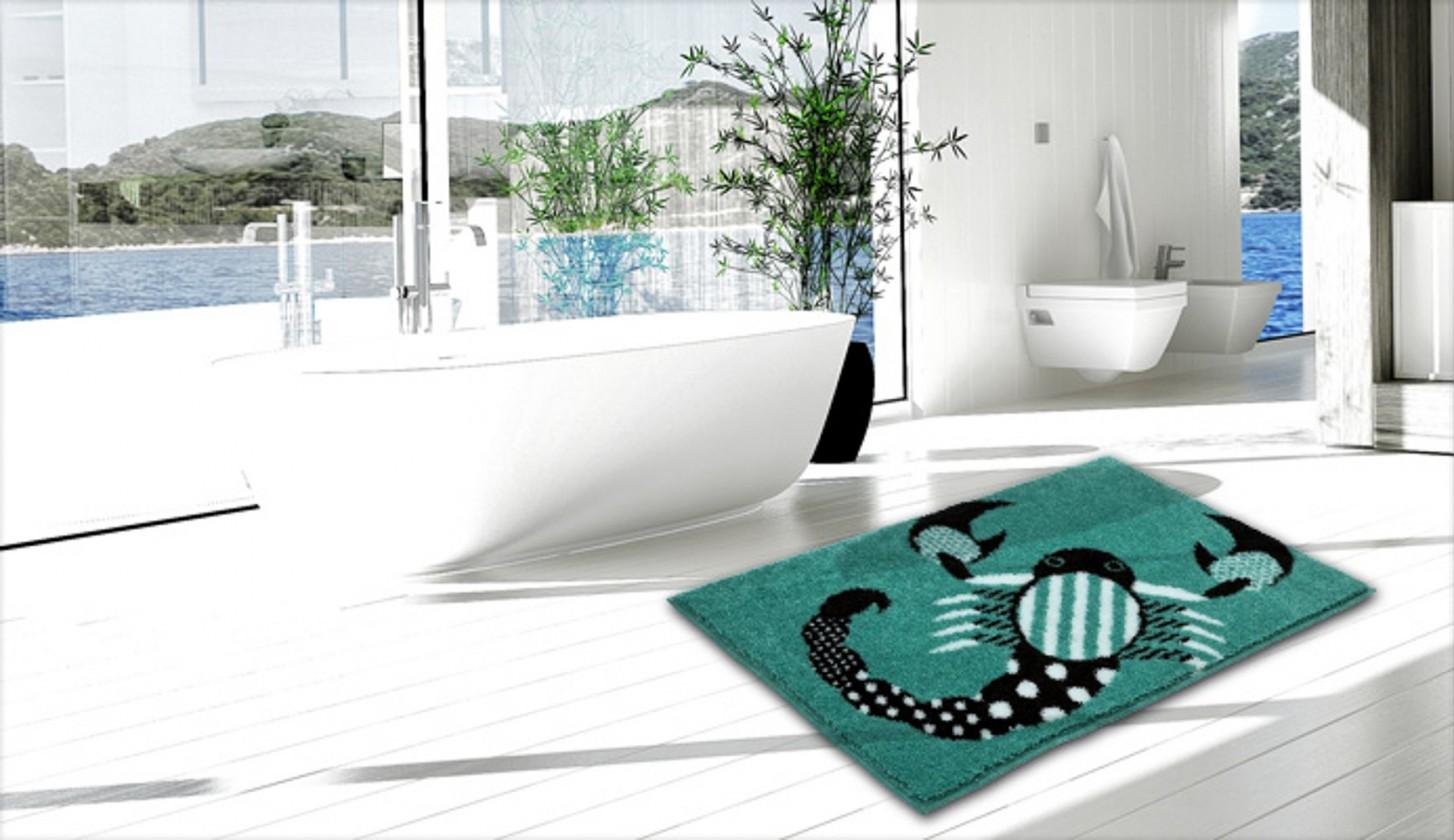 Nábytek Scorpio - Koupelnová předložka 60x90 cm (mátově tyrkysová)