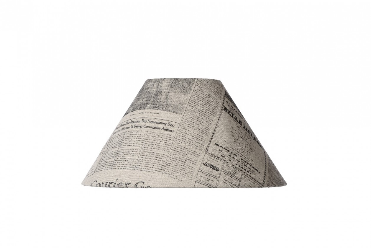 Nábytek Shade - širm, D25  H13, novinový potisk (novinový potisk)
