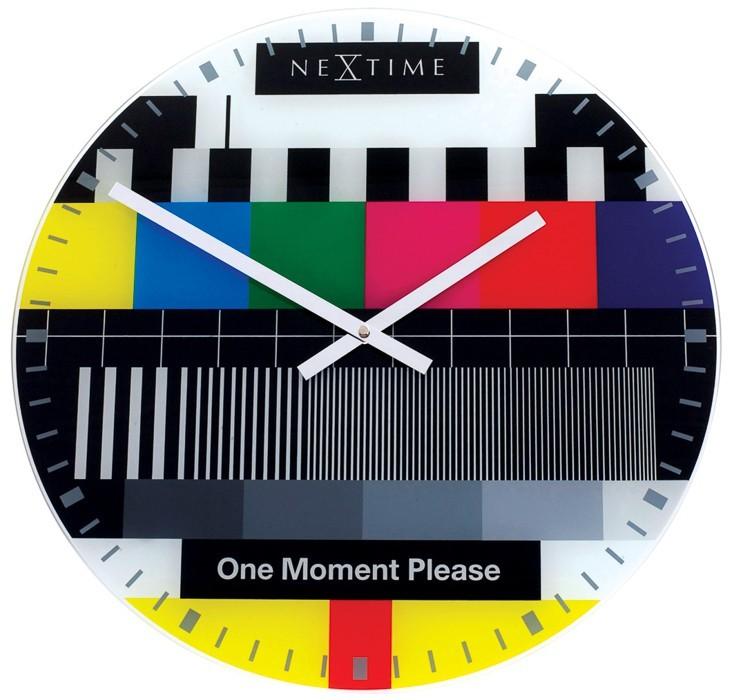 Nábytek Testpage - hodiny, nástěnné, kulaté (sklo, barevné)