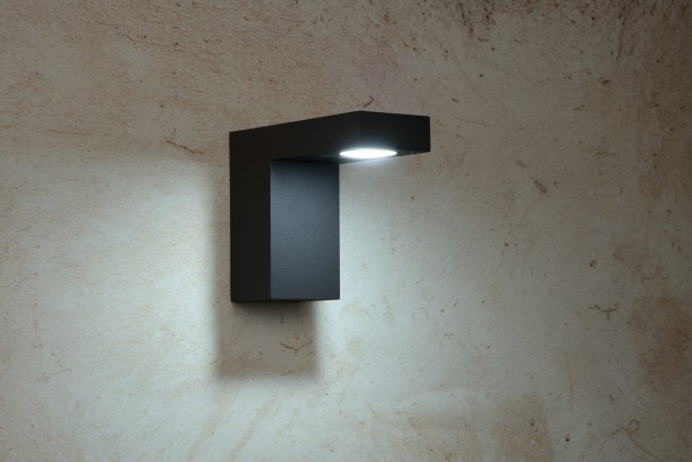 Nábytek Texas - nástěnné osvětlení, 6W, LED (černá)