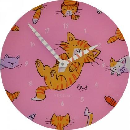 Nábytek Tickle my Tummy - hodiny, dětské nástěnné (sklo, barevné)