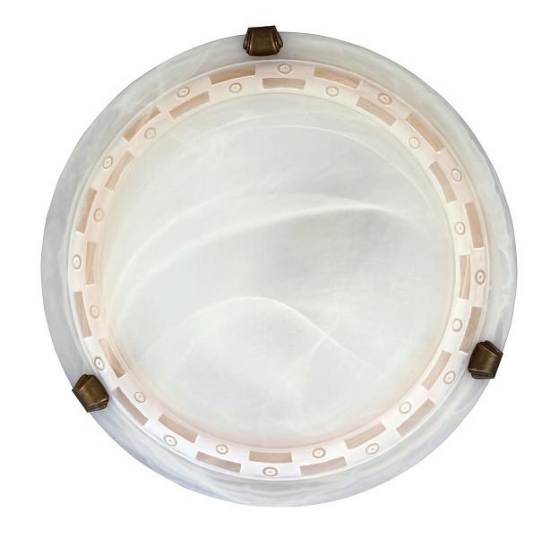 Nábytek Tom - Nástěnná svítidla, E27 (vzorkovaná alabastrová/bronzová )