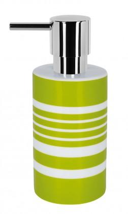 Nábytek Tube-Dávkovač mýdla STRIPE(bílá,zelená)