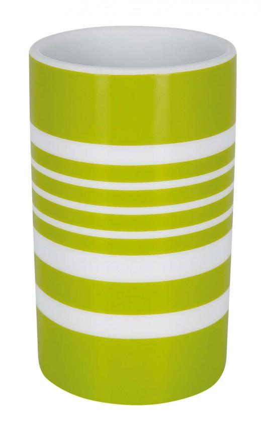 Nábytek Tube-Kelímek STRIPES green(bílá,zelená)