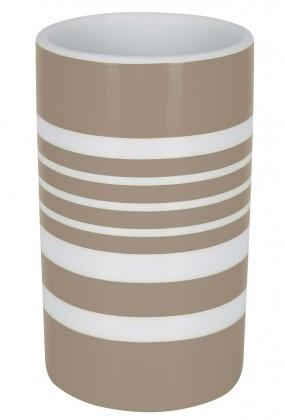 Nábytek Tube-Kelímek  STRIPES taupe(bílá,šedá)