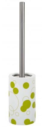 Nábytek Tube-WC štětka  Bubbles kiwi(bílá,zelená)