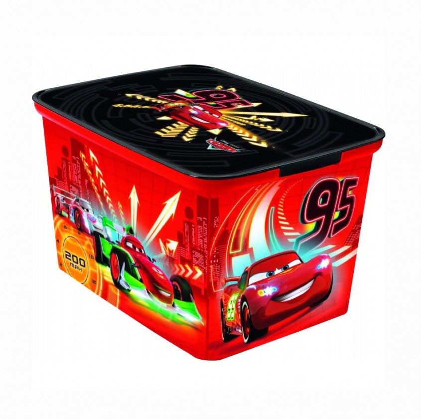 Nábytek Úložný box - Amsterdam L Cars new (červená)