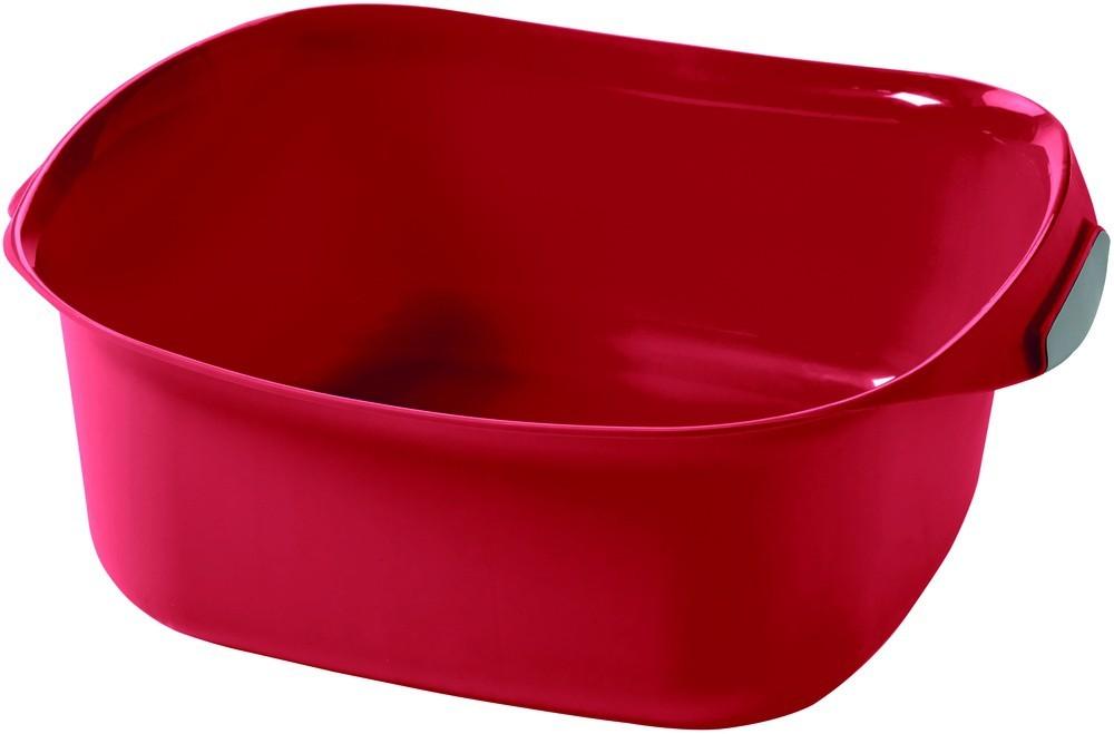 Nábytek Umyvadlo čtverec 10l - červená