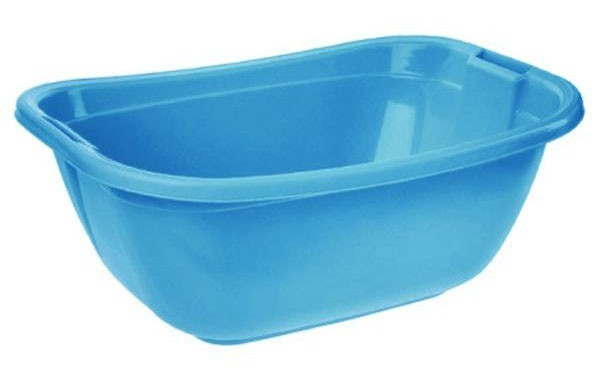 Nábytek Vanička oválná, 55x40x22 cm, 22l, plast (modrá)