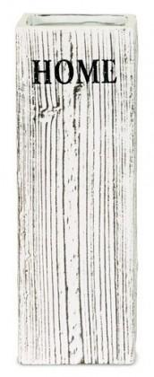 Nábytek Váza keramická - 35 cm (keramika, hnědobílá)