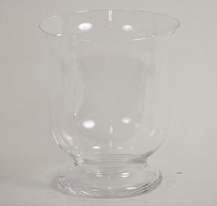 Nábytek Váza skleněná - 22 cm (sklo, čirá)