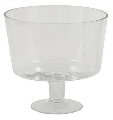 Nábytek Váza skleněná - 24 cm (sklo, čirá)