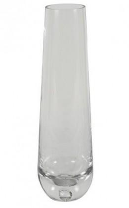 Nábytek Váza skleněná - 30 cm, oválná (sklo, čirá)