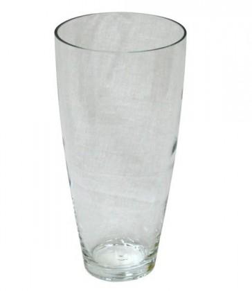 Nábytek Váza skleněná transparentní,V tvar (transparentní)