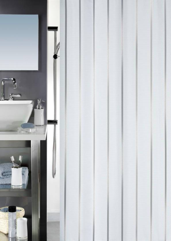 Nábytek Vento-Sprchový závěs 180x200(stříbrná)