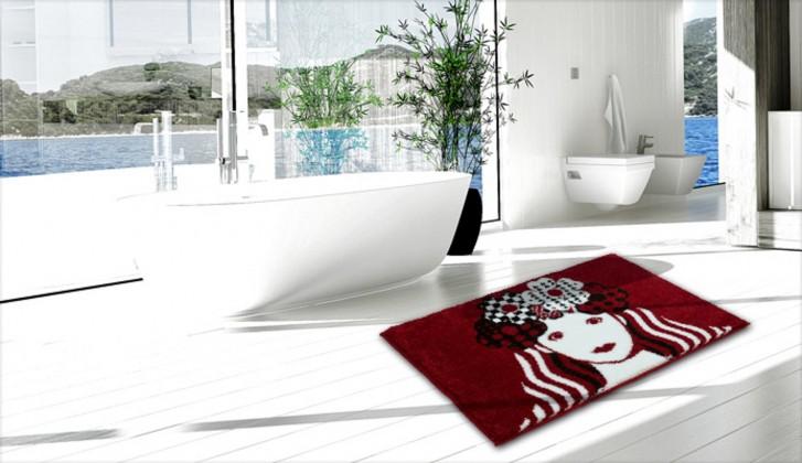 Nábytek Virgo - Koupelnová předložka 60x90 cm (červená)