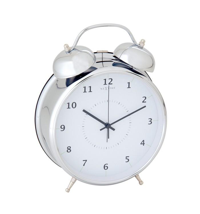 Nábytek Wake up - hodiny, stojaté, kulaté (kov, bílé)