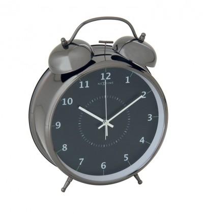Nábytek Wake up - hodiny, stojaté, kulaté (kov, černé)