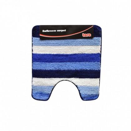 Nábytek WC předložka, 50x55 cm (pruhy, modrá)