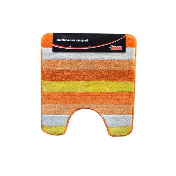 Nábytek WC předložka, 50x55 cm (pruhy, oranžová)