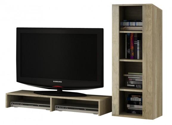 Nádstavec na TV stolek Campari - Nadstavba (country šedá / jasmín lesk)