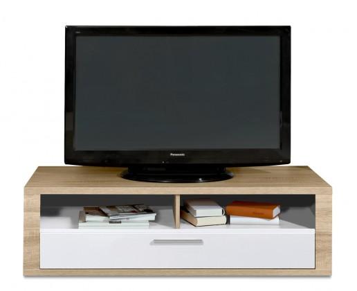 Nádstavec na TV stolek Cool - TV prvek (dub HN/bílá)