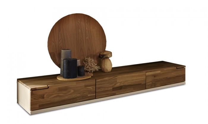 Nádstavec na TV stolek Feel - TV prvek se 3 zásuvkami (bílá/dub)