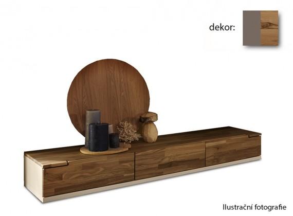 Nádstavec na TV stolek Feel - TV prvek se 3 zásuvkami (cubanit/divoký buk)
