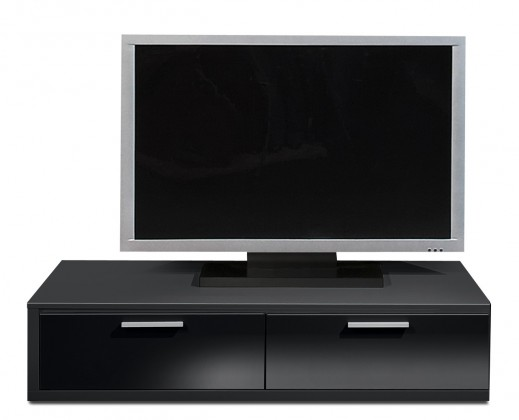 Nádstavec na TV stolek Game - TV prvek, 120 cm (černá/černý lak HG)