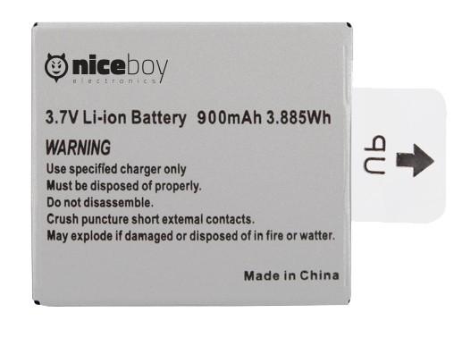 Náhradní baterie Niceboy pro akční kamery Vega, Vega+