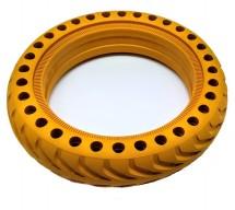 Náhradní  bezdušová pneu na elektrokoloběžku eSkoter, žlutá