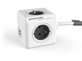 Napájecí adaptér PowerCube Extended 4 zásuvky, 2x USB, 1,5m