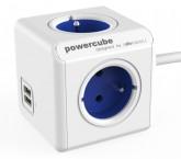 Napájecí adaptér PowerCube EXTENDED 4 zásuvky, 2x USB BLUE