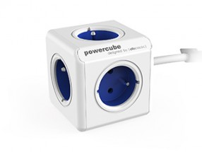 Napájecí adaptér PowerCube Extended 5 zásuvek BLUE