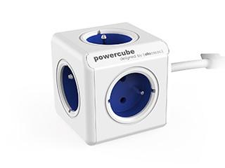 Napájecí adaptér PowerCube Extended 5 zásuvek modrá, 1,5m