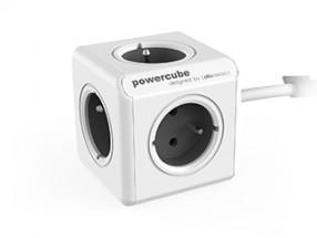 Napájecí adaptér PowerCube Extended 5 zásuvek, šedá, 1,5m