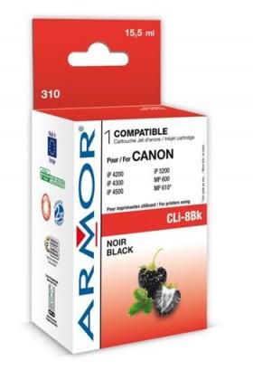 Náplně a tonery - kompatibilní ARMOR náplň, Black (CLI8BK)K12383