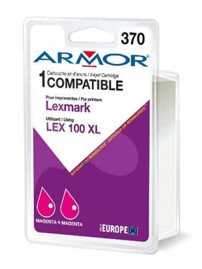 Náplně a tonery - kompatibilní Armor náplň, Lexmark bi-pack (LEX100XL M) K10189R1