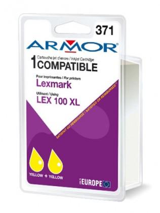 Náplně a tonery - kompatibilní Armor náplň, Lexmark bi-pack (LEX100XL Y) K10190R1