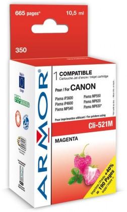 Náplně a tonery - kompatibilní ARMOR náplň, Magenta (CLI521M)K12467